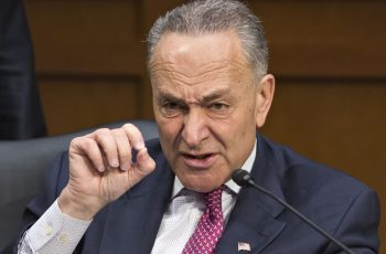 Democratic Sen. Chuck Schumer of New York makes a point as the Senate Judiciary Committee meets in a markup session to examine proposed changes to immigration reform legislation, on Capitol Hill in Washington, Thursday, May 9, 2013. Schumer is a lead author of the bill to enact dramatic changes to the nation's immigration system and put some 11 million immigrants here illegally on a path to citizenship is facing its first congressional test as lawmakers contest specifics in the 844-page legislation.  (AP Photo/J. Scott Applewhite)